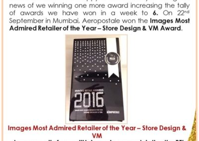 Most Admired Retailer of the year