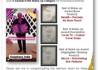 Sephora 3 Awards