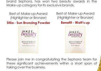 Sephora Award Announcement